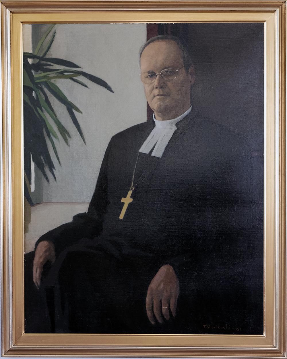 Piispa Jorma Laulajan muotokuva
