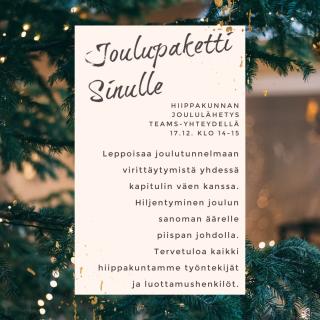 Joululähetys mainos